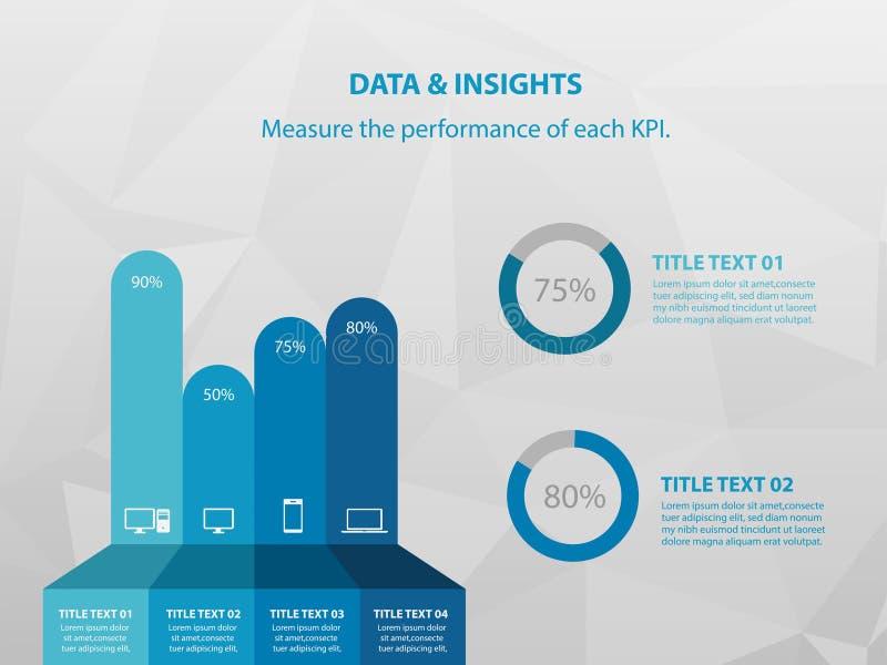 Calibre de conception d'Infographics, concept des affaires 3D avec 4 étapes ou les options, illustration libre de droits