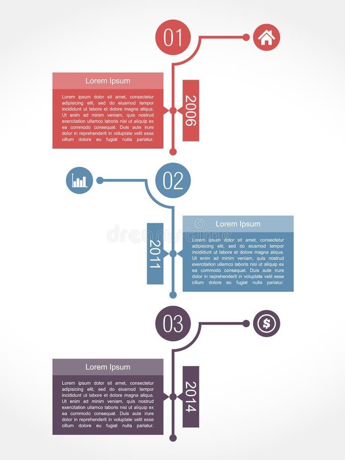 Calibre de conception d'Infographics de chronologie illustration libre de droits
