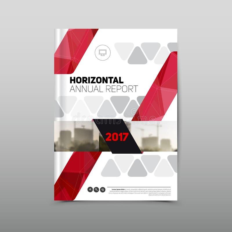 Calibre de conception d'insecte de brochure de rapport annuel, rouge coloré illustration de vecteur