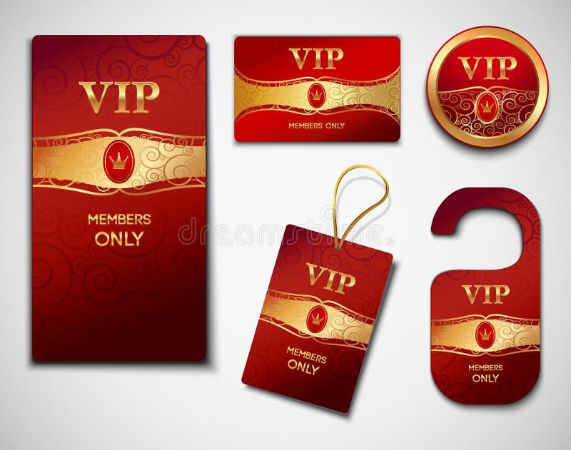 Calibre de conception de cartes de VIP illustration stock