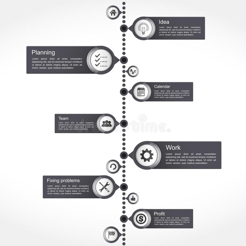 Calibre de conception de chronologie illustration stock
