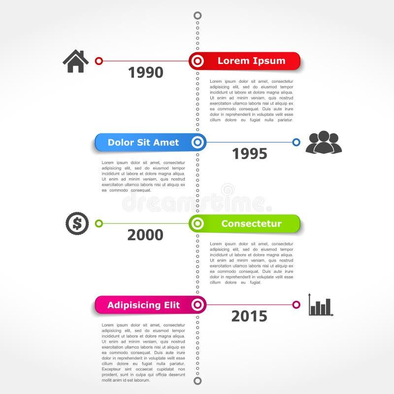 Calibre de conception de chronologie illustration de vecteur