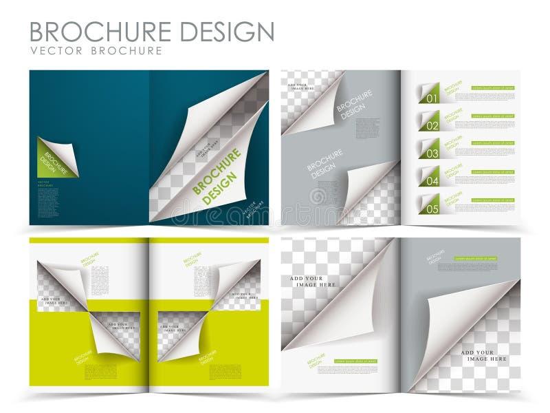 Calibre de conception de disposition de brochure de vecteur illustration stock