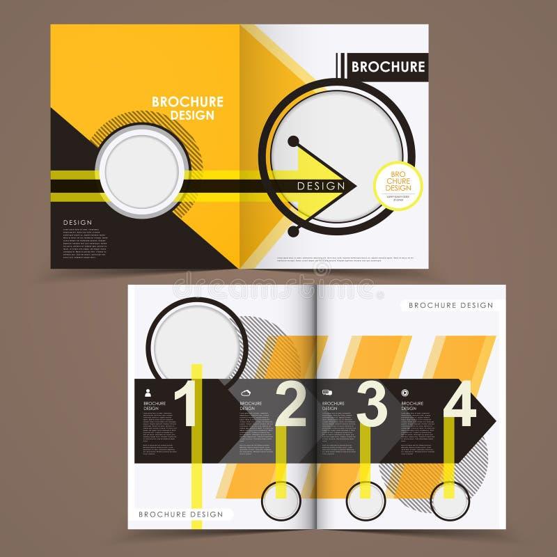 Calibre de conception de disposition de brochure de vecteur illustration de vecteur