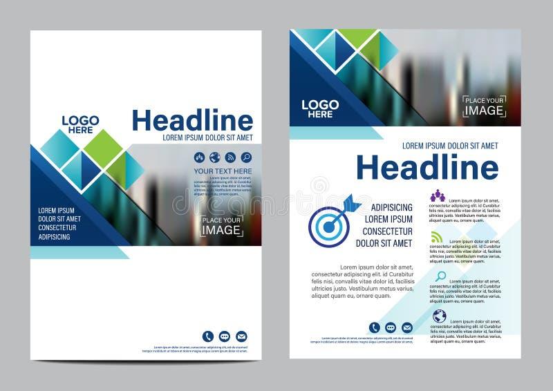 Calibre de conception de disposition de brochure Fond moderne de présentation de couverture de tract d'insecte de rapport annuel  photos stock