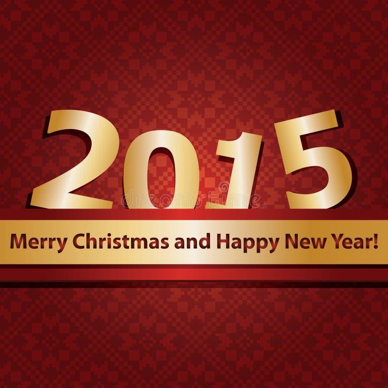 Calibre de conception de la nouvelle année 2015 illustration libre de droits