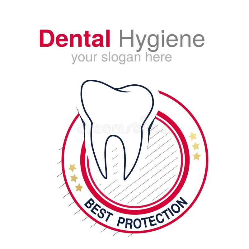Calibre de conception de logo de dentiste Symbole de dent pour la clinique dentaire ou marque pour l'hygiène dentaire Conception  illustration libre de droits