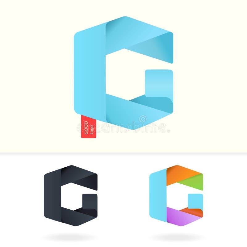 Calibre de conception de logo de la lettre G photos stock