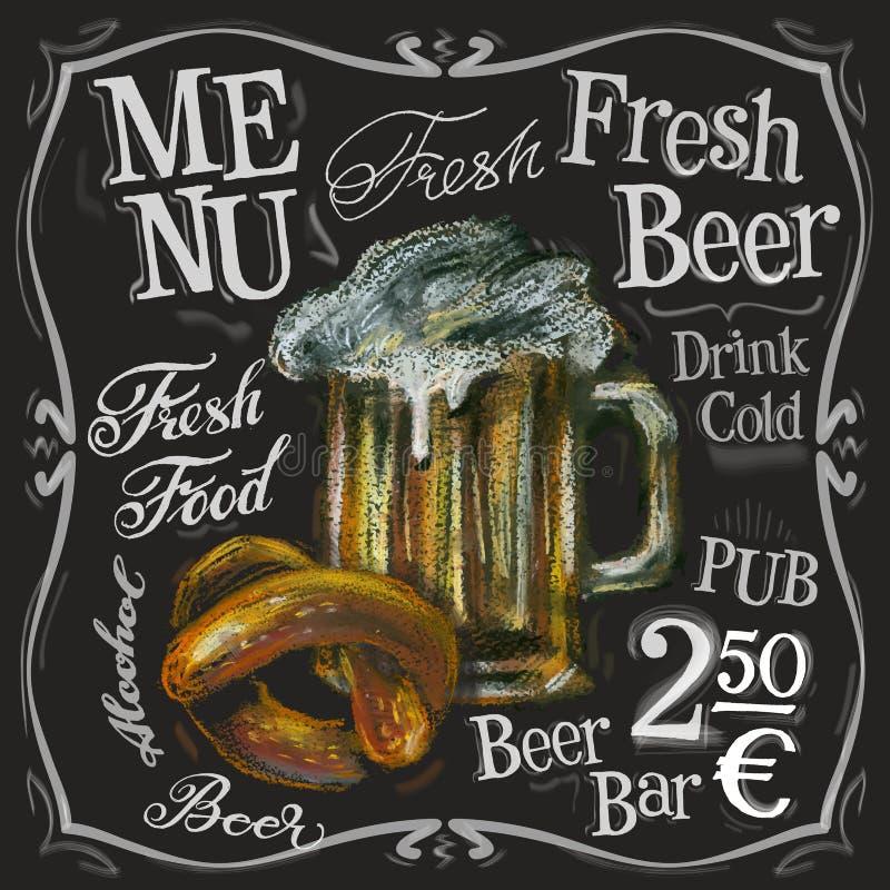 Calibre de conception de logo de vecteur de barre de bière alcoolique illustration libre de droits