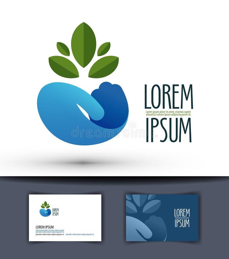 Calibre de conception de logo de vecteur de cultivateur usine ou illustration stock