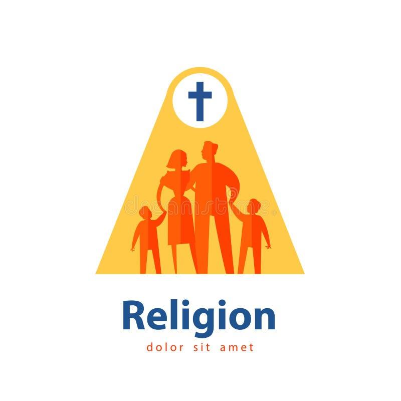 Calibre de conception de logo de vecteur de famille les gens ou illustration de vecteur