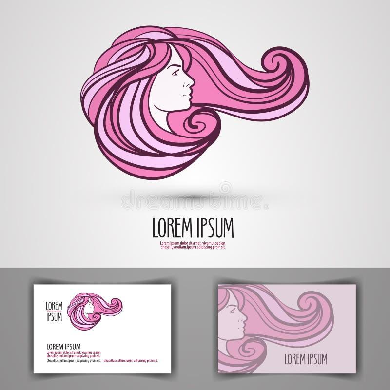 Calibre de conception de logo de vecteur de salon de beauté illustration stock