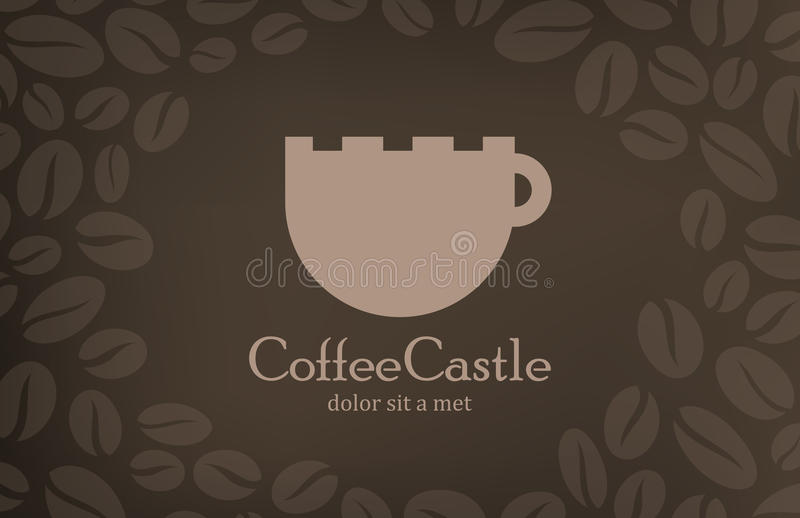 Calibre de conception de logo de vintage de café. Cov de menu de café illustration libre de droits