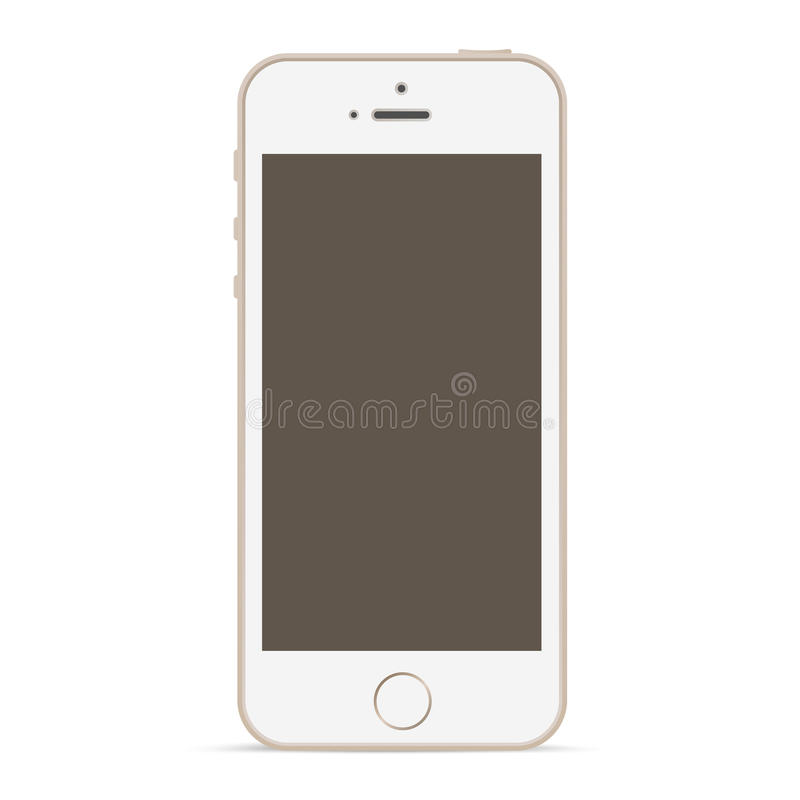 Calibre de conception de maquette de téléphone portable. illustration libre de droits