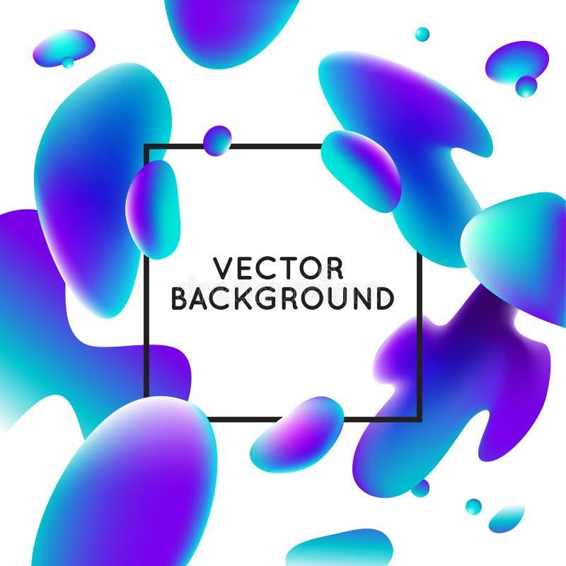 Calibre de conception de vecteur avec des formes liquides abstraites illustration libre de droits