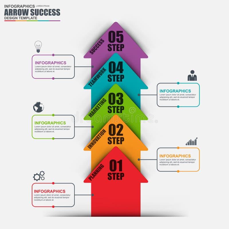 Calibre de conception de vecteur de flèche d'affaires d'Infographic illustration de vecteur