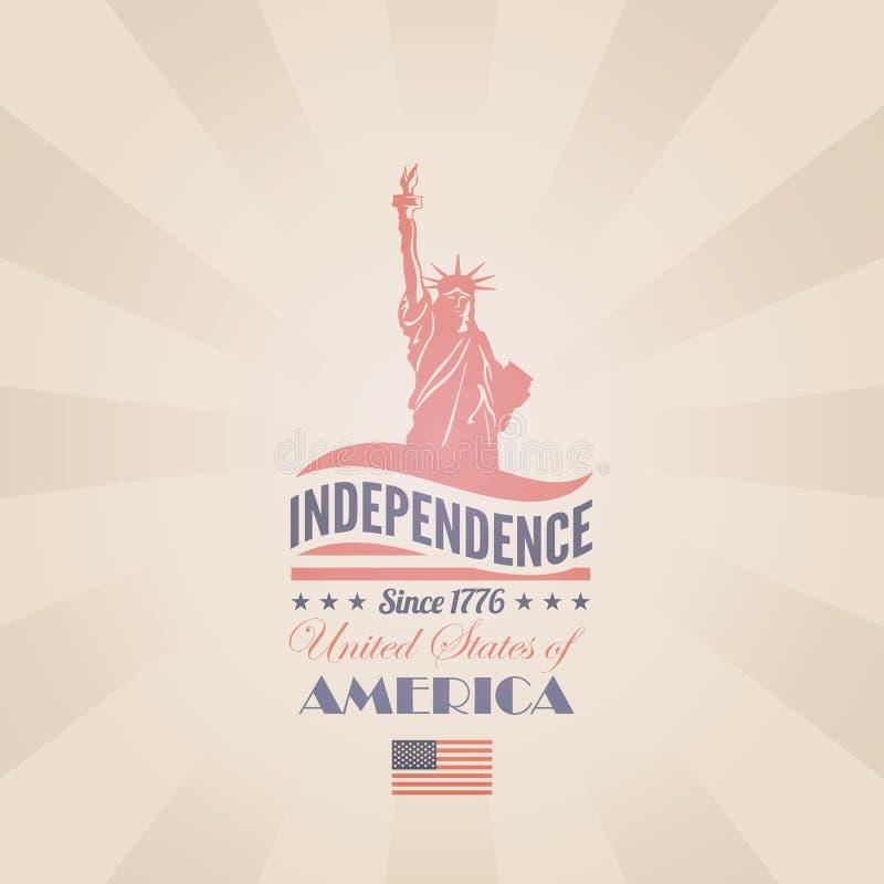 Calibre de conception de vecteur de Jour de la Déclaration d'Indépendance des Etats-Unis. Liber illustration stock
