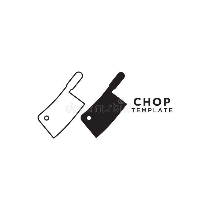 Calibre de conception graphique de couteau de côtelette illustration stock