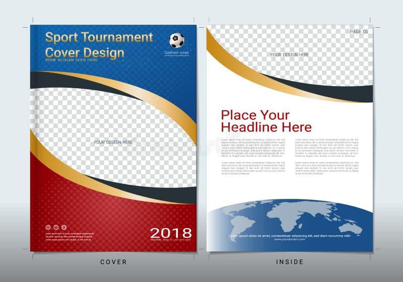 Calibre de conception de livre de couverture avec l'espace pour la manifestation sportive illustration libre de droits
