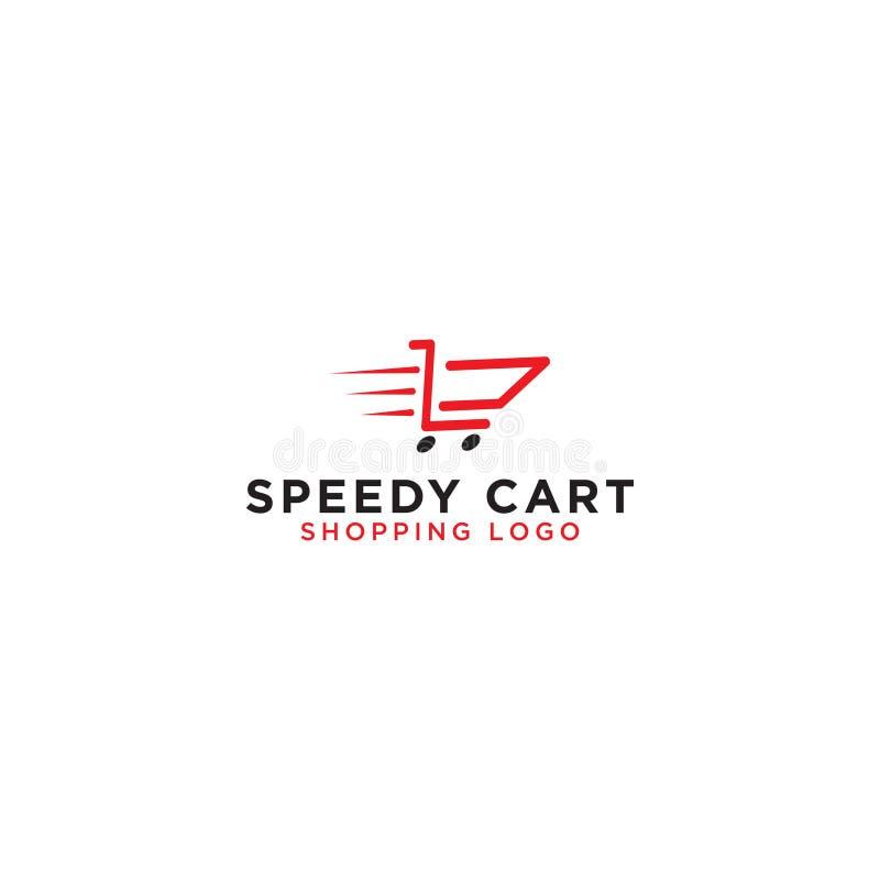 Calibre de conception de logo de caddie illustration libre de droits