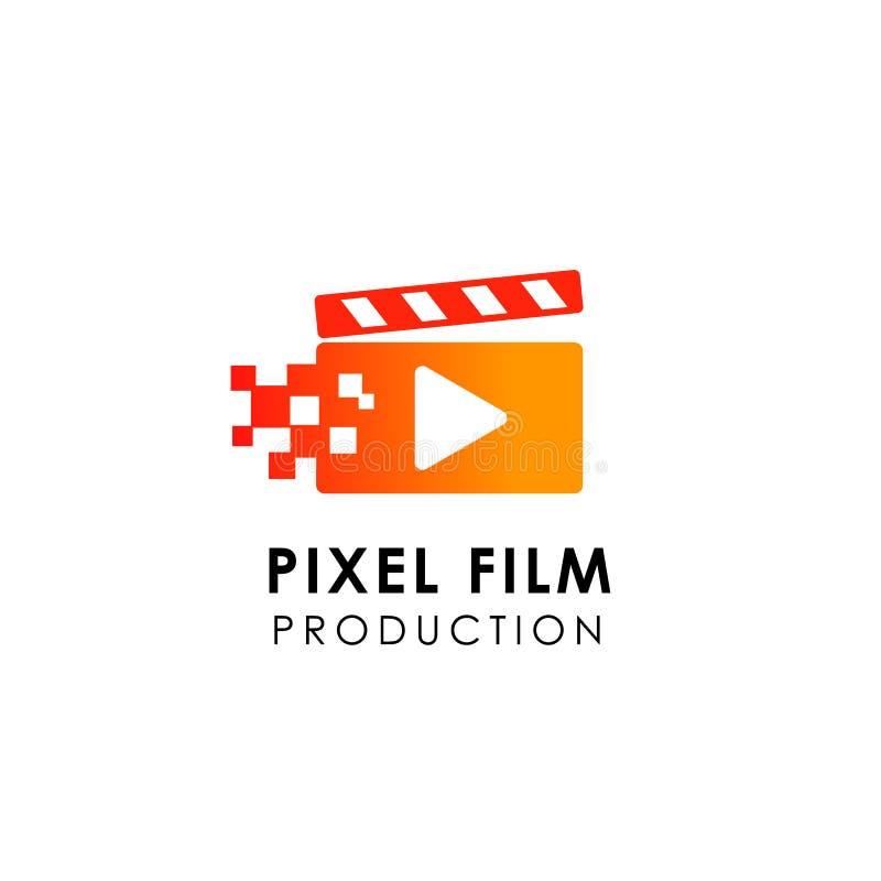 calibre de conception de logo de jeu de film conception de symbole d'icône de studio cinématographique illustration stock