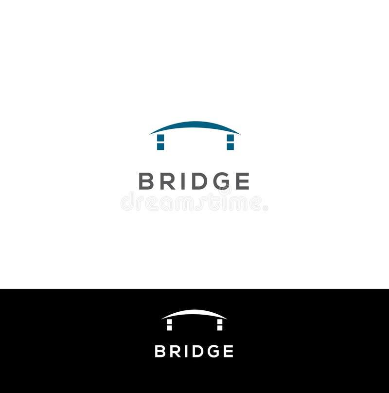 Calibre de conception de logo de vecteur de pont illustration libre de droits