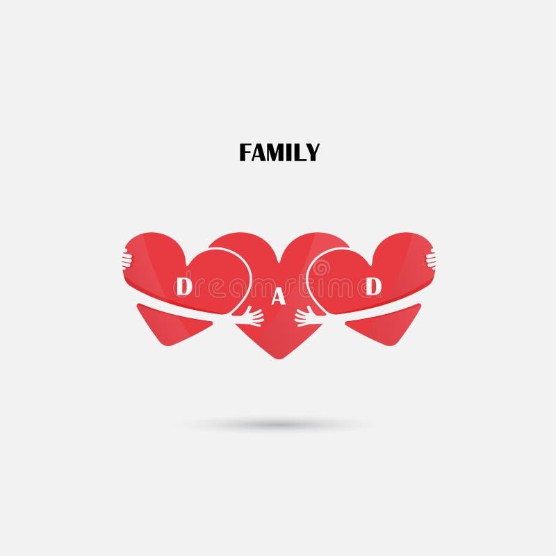 Calibre de conception de logo de vecteur de signes de coeur Amour et famille heureuse Co illustration de vecteur