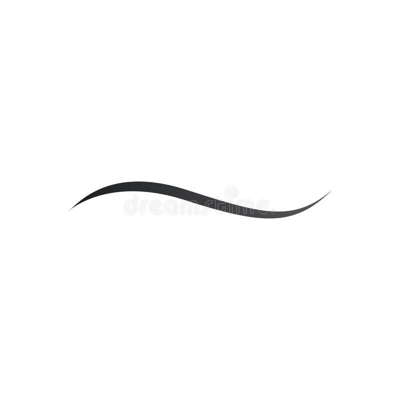 Calibre de conception de logo de vecteur de vague de l'eau, icône de l'eau, signe d'aqua, symbole de pirouette, illustration de v illustration libre de droits