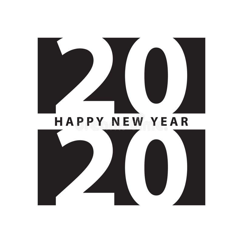 Calibre de conception moderne d'impression de la bonne année 2020 de style d'affaires illustration de vecteur