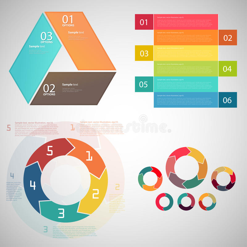 Calibre de conception moderne réglé/vecteur EPS10 illustration de vecteur