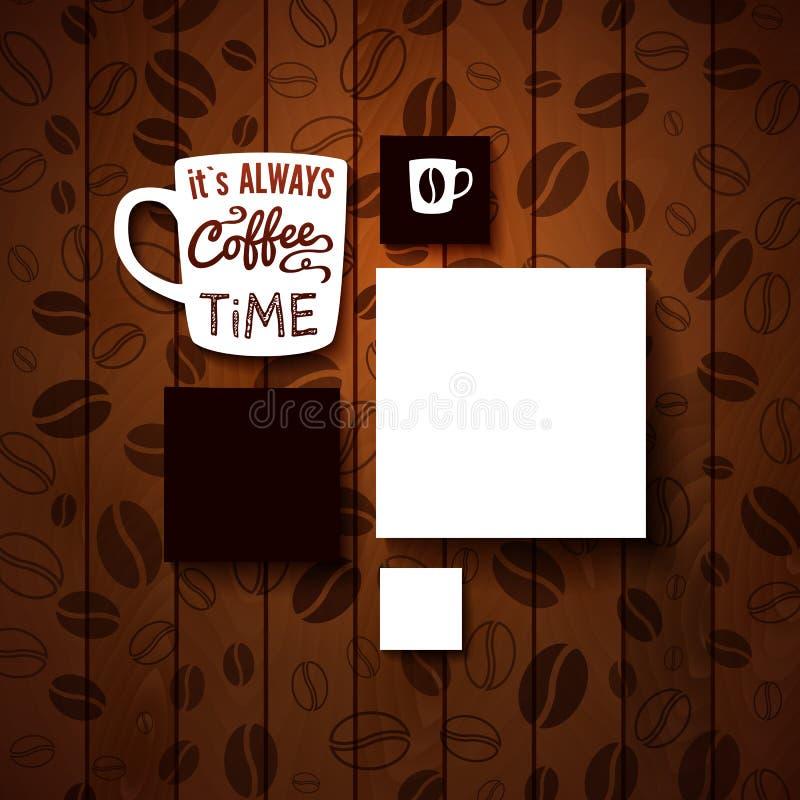 Calibre de conception pour votre café. illustration stock