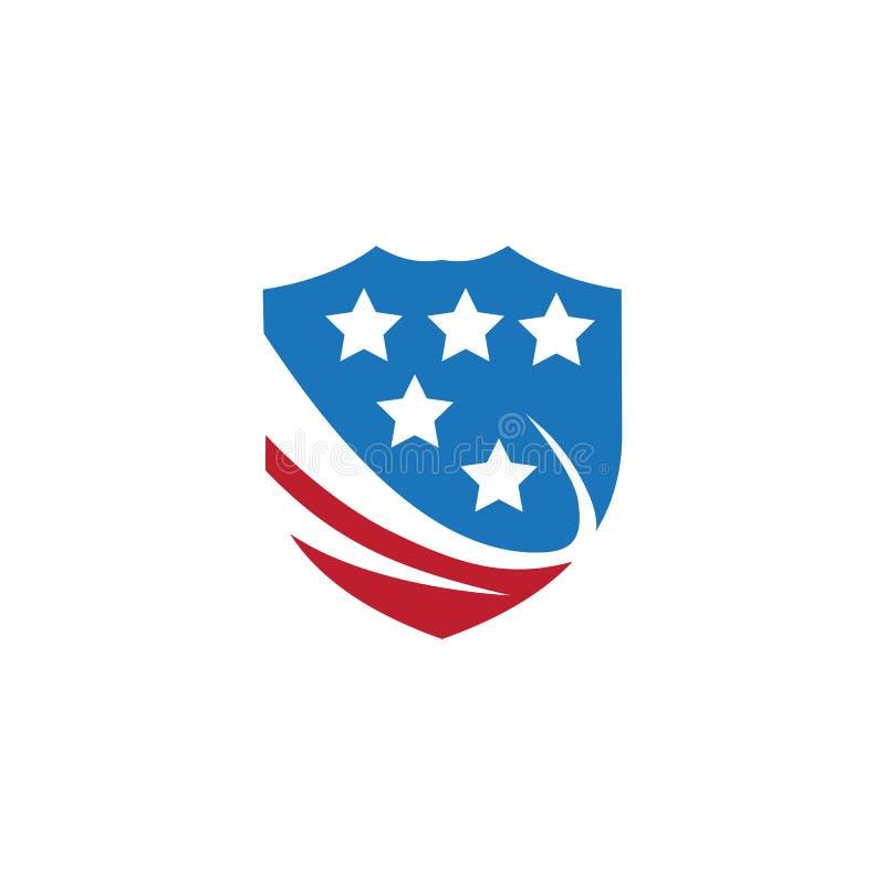 calibre de conception de vecteur de bouclier pour le logo d'affaires illustration libre de droits