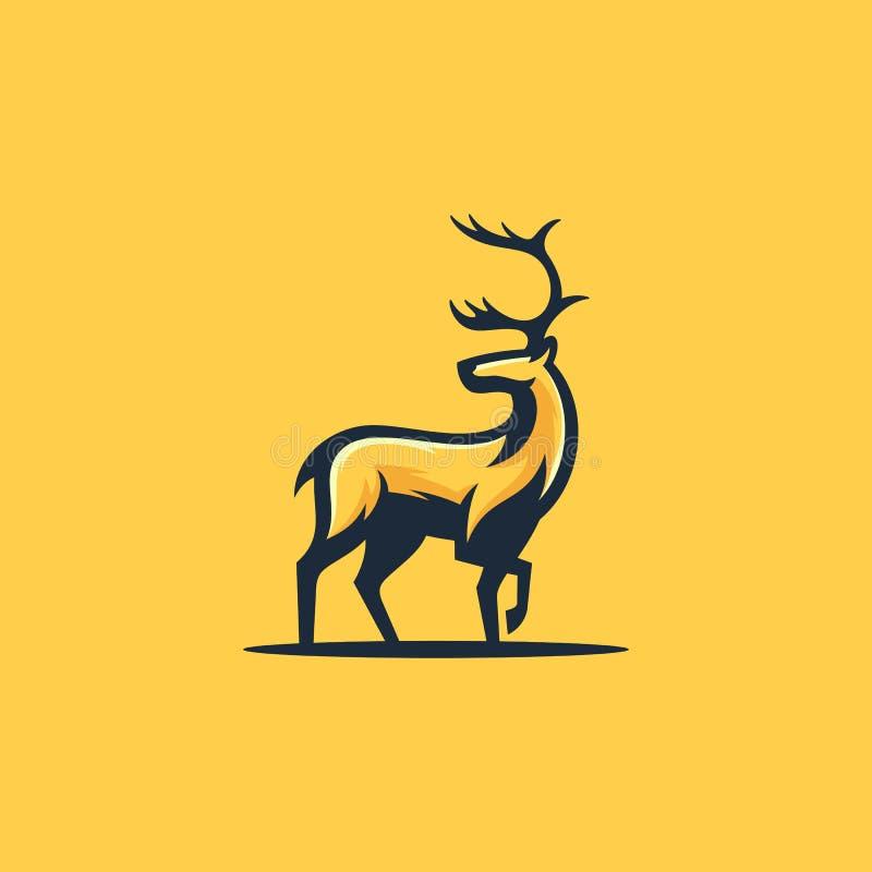 Calibre de conception de vecteur d'illustration de concept de caribou illustration libre de droits