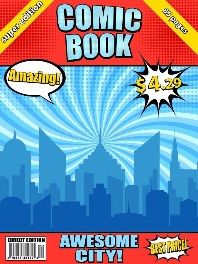 Calibre de couverture de bande dessinée illustration libre de droits