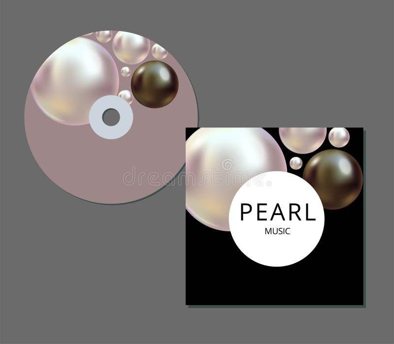 Calibre de couverture de CD avec la conception abstraite créative artistique et colorée pour vos affaires dans le format d'ENV 10 illustration de vecteur