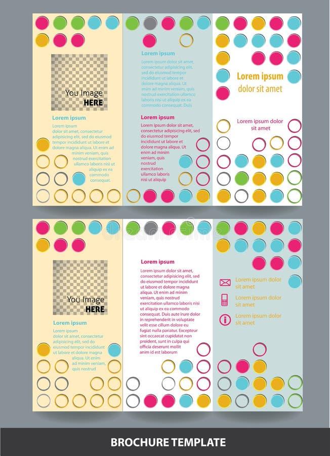 Calibre de couverture de brochure de fond de cercle illustration de vecteur