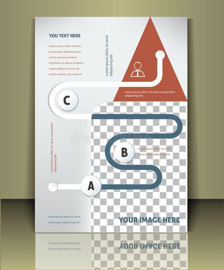 Calibre de couverture de brochure de vecteur illustration stock