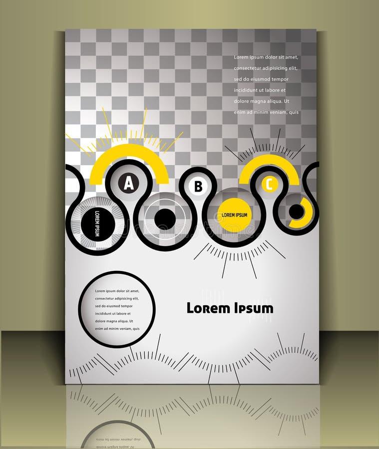 Calibre de couverture de brochure de vecteur illustration de vecteur