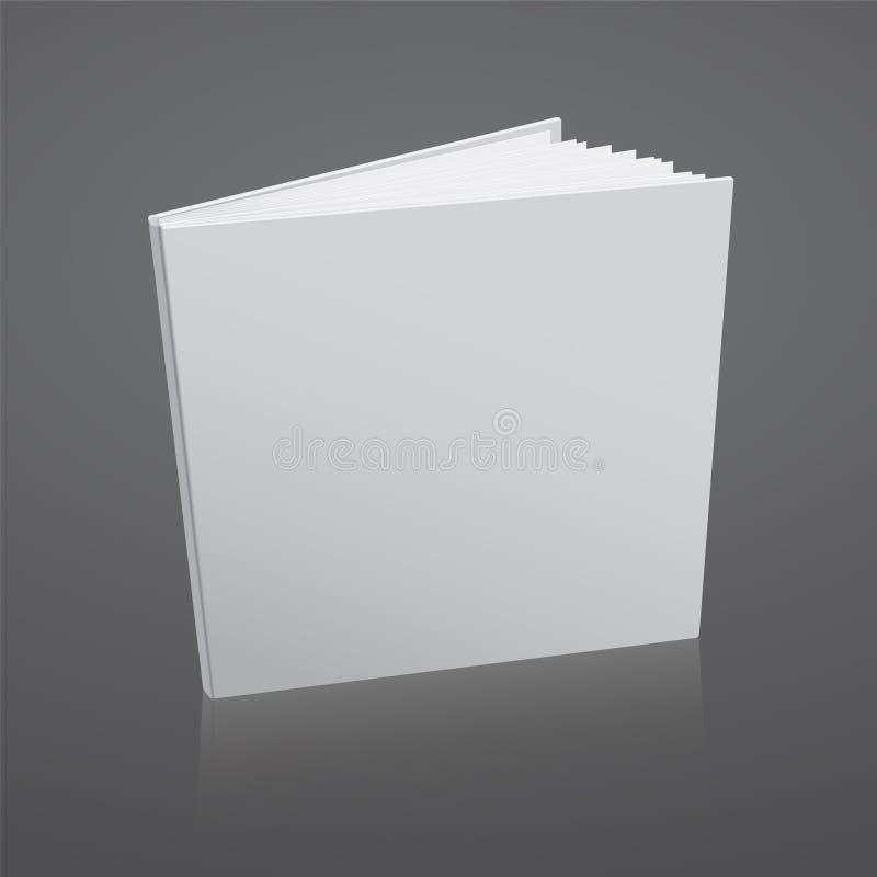 Calibre de couverture vide de livre blanc de vecteur illustration libre de droits