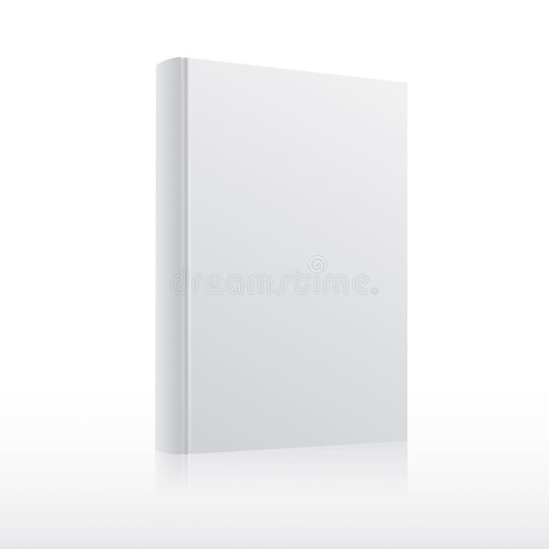 Calibre de couverture vide de livre blanc de vecteur illustration stock