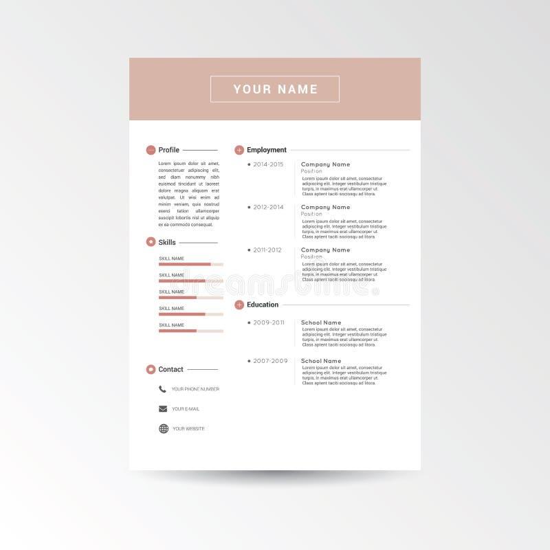 Calibre de cv/résumé illustration libre de droits