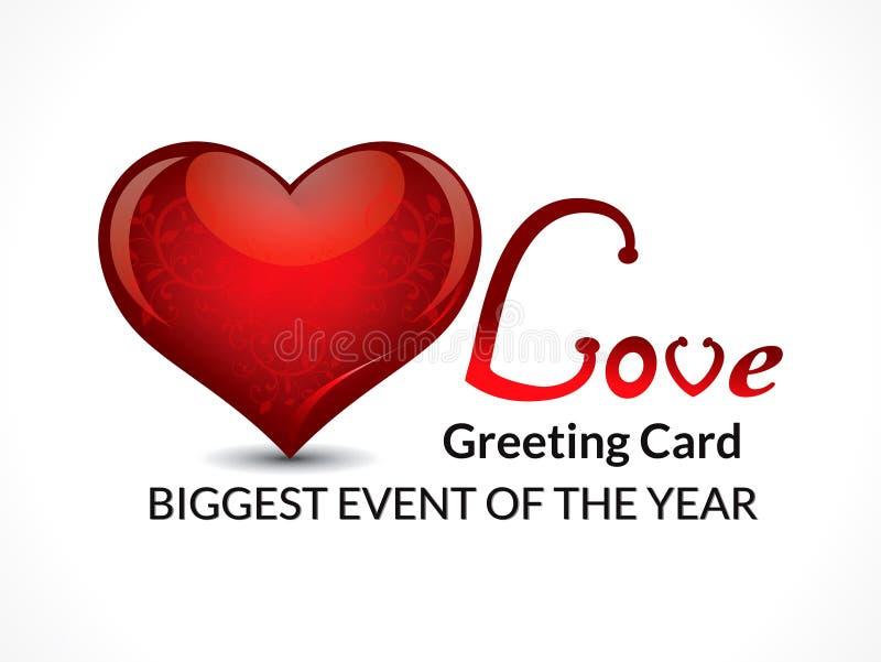 Calibre de design de carte d'amour de jour du ` s de Valentine illustration de vecteur