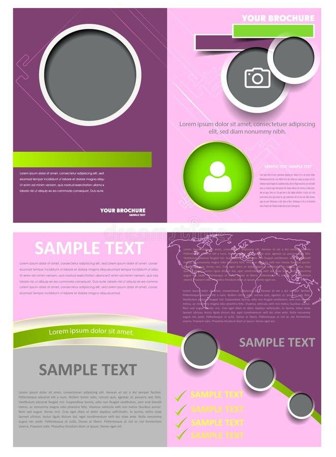 Calibre de disposition de conception d'insecte de brochure illustration de vecteur