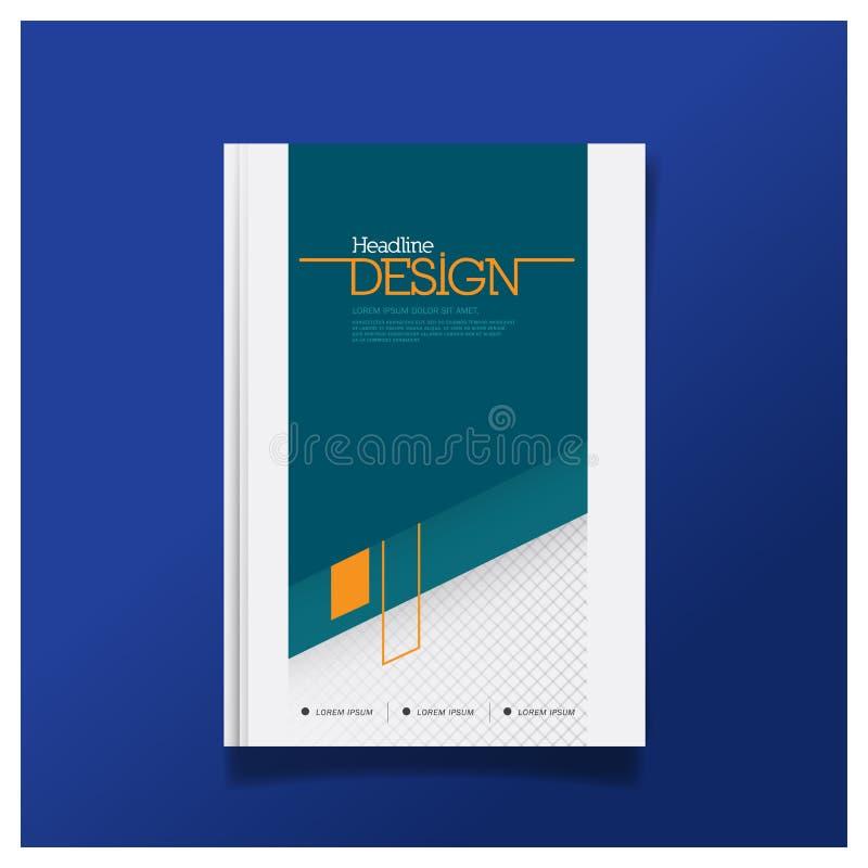 Calibre de disposition de conception de couverture d'insecte de brochure d'affaires dans la taille A4 illustration stock