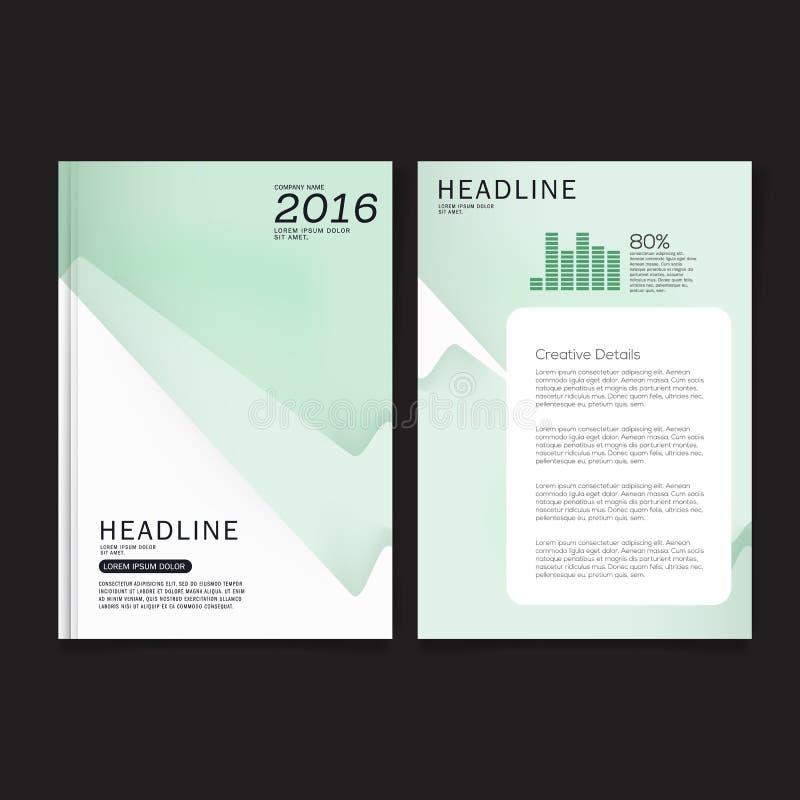 Calibre de disposition de conception de couverture d'insecte de brochure d'affaires dans la taille A4 illustration libre de droits