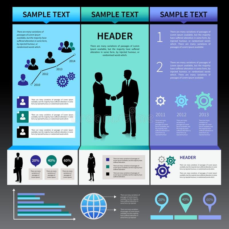 Calibre de disposition de présentation d'Infographics illustration de vecteur