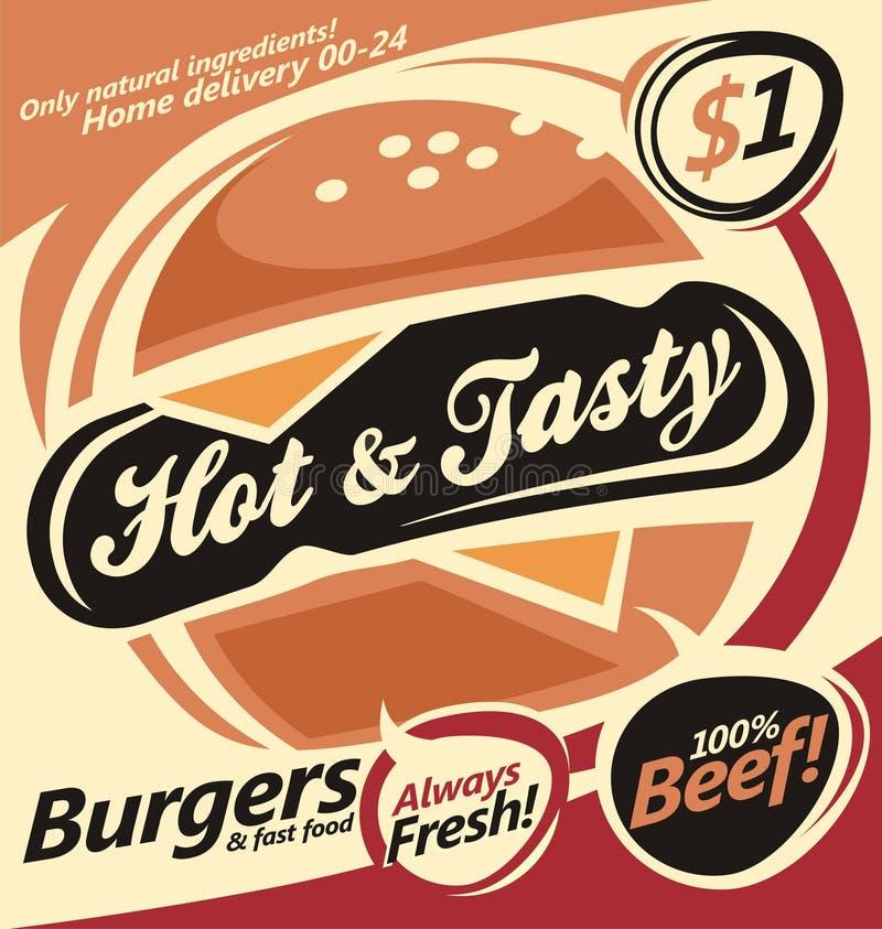 Calibre de document d'hamburger illustration de vecteur