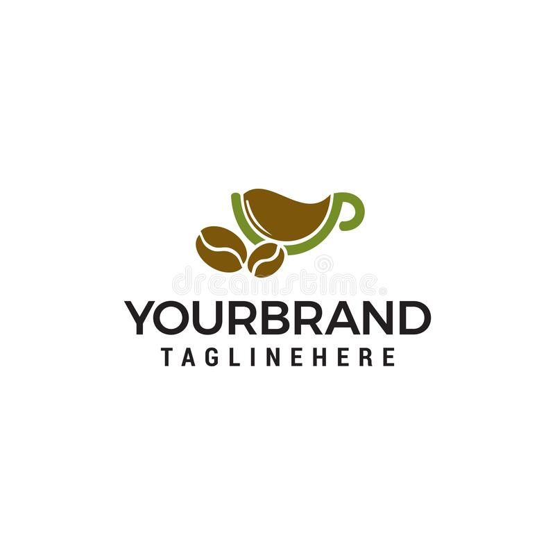 Calibre de fines herbes de concept de construction de logo de café illustration stock
