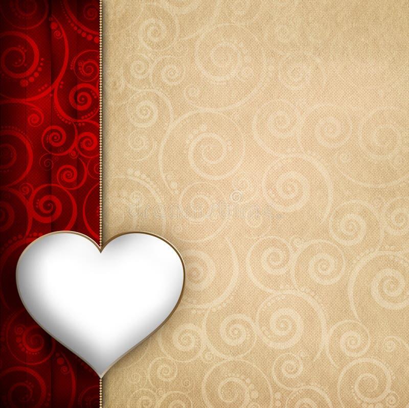 Calibre de fond de carte de Saint-Valentin illustration de vecteur