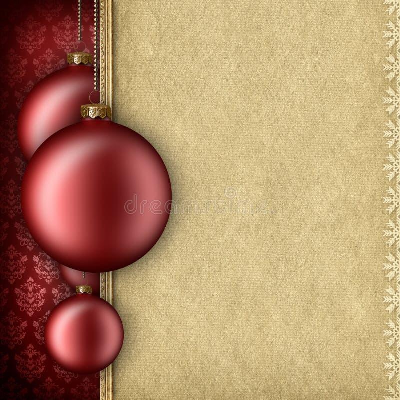 Calibre de fond de Noël - babioles et espace vide pour le texte illustration de vecteur